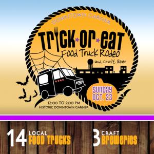 3rd Annual Trick-or-Eat Food Truck Rodeo @ Historic Main Street Downtown Garner | Garner | North Carolina | United States