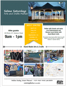 Selma Saturdays Arts & Crafts Market @ Uptown Selma Gazebo | Selma | North Carolina | United States