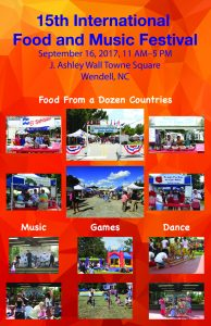 15th International Food and Music Festival @ J. Ashley Wall Towne Square | Wendell | North Carolina | United States