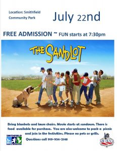 Movie in the park @ Smithfield Community Park  | Smithfield | North Carolina | United States