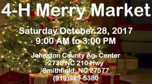 4-H Merry Market @ Johnston County Agricultural Center | Smithfield | North Carolina | United States