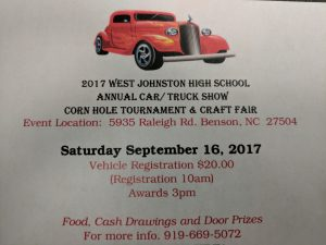 West Johnston High School Car/Truck Show, Corn hole Tourney & Craft Fair @ West Johnston High School | Benson | North Carolina | United States