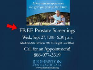FREE prostate screening! @ Medical Arts Pavillion | Smithfield | North Carolina | United States