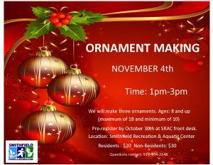 Ornament Making @SRAC @ Smithfield Recreation & Aquatic Center | Smithfield | North Carolina | United States