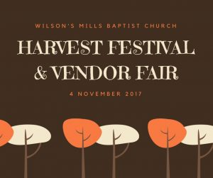 Harvest Festival and Vendor Event @ Wilson's Mills Baptist Church | Smithfield | North Carolina | United States