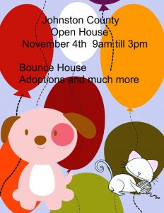 Animal Services Open House & Adoptions @ Johnston County Animal Services | Smithfield | North Carolina | United States