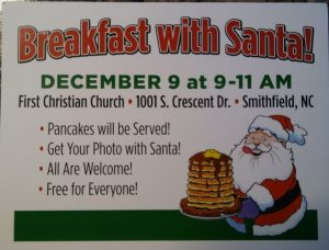 Breakfast with Santa@First Chistian Church-Smithfield @ First Christian Church-Smithfield