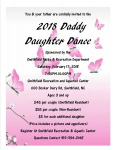 2018 Smithfield Daddy Daughter Dance @ Smithfield Recreation & Aquatic Center | Smithfield | North Carolina | United States