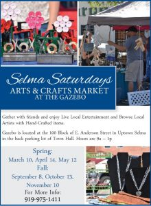 Saturdays Arts & Crafts Market @ Selma Town Gazebo | Selma | North Carolina | United States