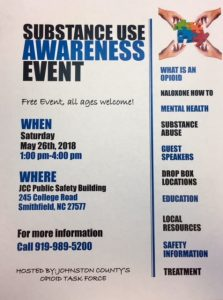 Substance Use Awareness Event @ Johnston Community College-Public Safety Building | Smithfield | North Carolina | United States