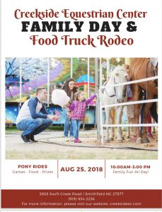 Creekside Family Fun Day & Food Truck Rodeo @ Creekside Equestrian Center | Smithfield | North Carolina | United States