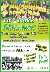 Fit 2 Dance Marathon @ Nutrition 2 Fit Dance Studio | Selma | North Carolina | United States