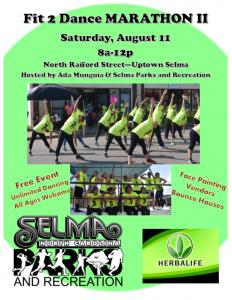 Fit 2 Dance Marathon II @ Uptown Selma - Raiford and Waddell Streets | Selma | North Carolina | United States