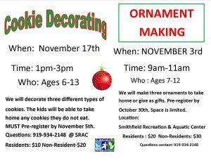 Cookie Decorating @ Smithfield Recreation & Aquatic Center | Smithfield | North Carolina | United States