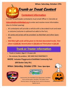 Trunk or Treat @ Smithfield Community Park | Smithfield | North Carolina | United States