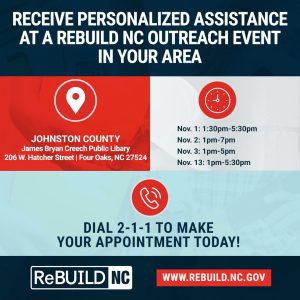 ReBuild NC Hurricane Matthew Relief Mobile Application Center @ James Bryan Creech Public Library  | Four Oaks | North Carolina | United States