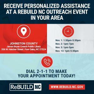 ReBuild NC Hurricane Matthew Relief Mobile Application Center @ James Bryan Creech Public Library  | Four Oaks | North Carolina | United States