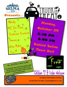 Selma Trunk or Treat @ Uptown Selma Gazebo