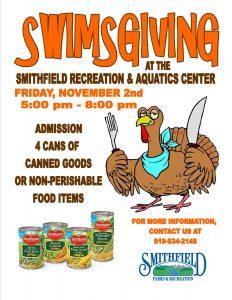 Swimsgiving @ Smithfield Recreation & Aquatic Center | Smithfield | North Carolina | United States