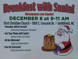 Breakfast with Santa @ First Christian Church-Smithfield   Smithfield   North Carolina   United States