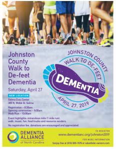 Johnston County Walk to De-feet Dementia @ Selma Civic Center | Selma | North Carolina | United States
