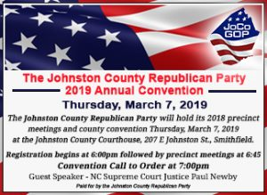 Johnston County GOP 2019 County Convention @ Johnston County Courthouse | Smithfield | North Carolina | United States