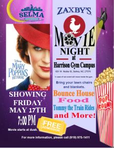 Zaxby's Movie Night @ Richard B. Harrison Gymnasium Lawn | Selma | North Carolina | United States