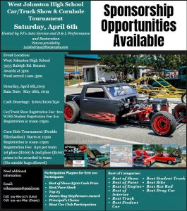 WJHS Car & Truck Show and Cornhole Tournament @ West Johnston High School   Benson   North Carolina   United States