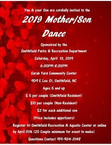 2019 Mother Son Dance @ Sarah Yard Community Center | Smithfield | North Carolina | United States