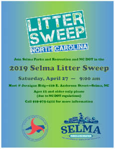 Selma Litter Sweep @ Jernigan Bldg | Selma | North Carolina | United States