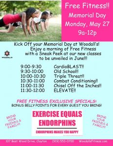 Memorial Day FREE Fitness! @ Woodall's Fitness and Performance | Clayton | North Carolina | United States