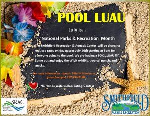 POOL LUAU @ Smithfield Recreation & Aquatic Center | Smithfield | North Carolina | United States