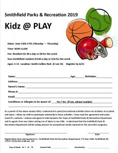 Kidz @ Play @ Smith Collins Park | Smithfield | North Carolina | United States