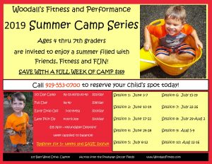Woodall's Summer Camp 2019! @ Woodall's Fitness and Performance | Clayton | North Carolina | United States
