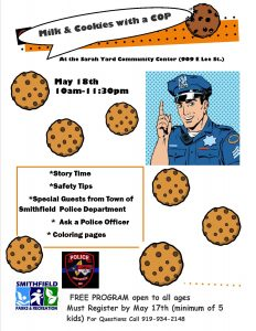 Milk & Cookies with a Cop @ Sarah Yard Community Center | Smithfield | North Carolina | United States