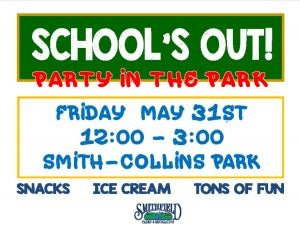School's Out! Party in the Park @ Smith Collins Park | Smithfield | North Carolina | United States
