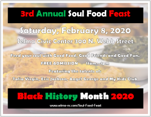 Soul Food Feast @ Selma Civic Center | Selma | North Carolina | United States