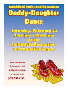 2020 Dadday Daughter Dance Smithfield Parks & Recreation @ Smithfield Recreation & Aquatic Center | Smithfield | North Carolina | United States