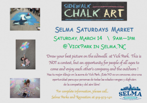 Sidewalk Chalk Art @ Vick Park | Selma | North Carolina | United States