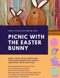 Picnic with the Easter Bunny @ Vick Park | Selma | North Carolina | United States
