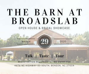 The Barn at Broadslab Open House and Bridal Tradeshow @ The Barn at Broadslab | Benson | North Carolina | United States