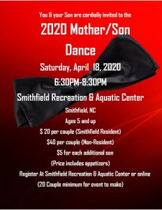 2020 Mother Son Dance @ Smithfield Recreation & Aquatic Center | Smithfield | North Carolina | United States