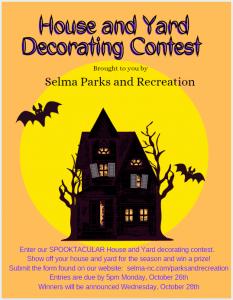 House & Yard Decorating Contest @ Selma Parks and Recreation, 112 E. Anderson Street | Selma | North Carolina | United States