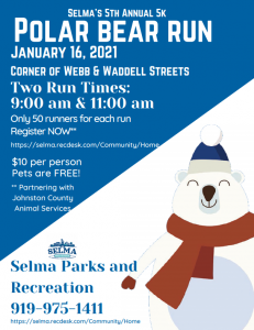 Polar Bear Run @ Downtown Selma | Selma | North Carolina | United States