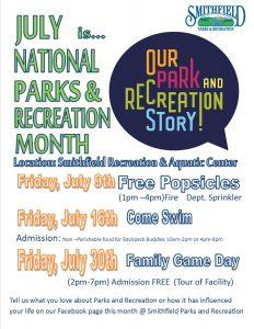 Smithfield Parks & Recreation Month @ Smithfield Recreation & Aquatic Center & Community Park | Smithfield | North Carolina | United States