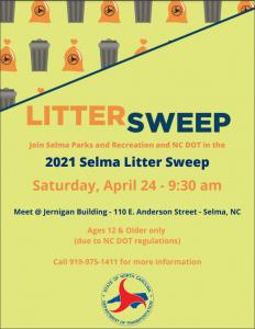 Selma Litter Sweep @ Downtown Selma | Selma | North Carolina | United States