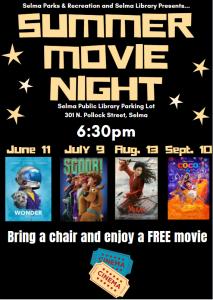 Summer Movie Night @ Selma Public Library   Selma   North Carolina   United States
